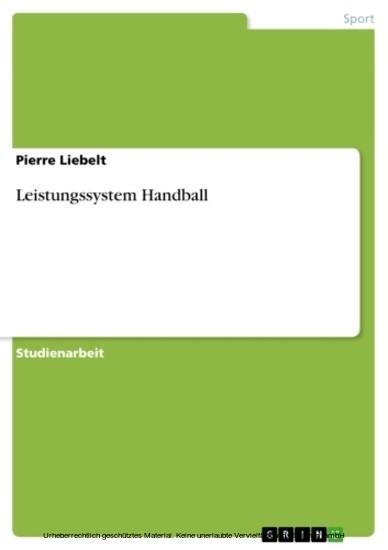 Leistungssystem Handball - Blick ins Buch