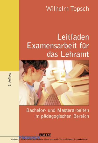 Leitfaden Examensarbeit für das Lehramt - Blick ins Buch