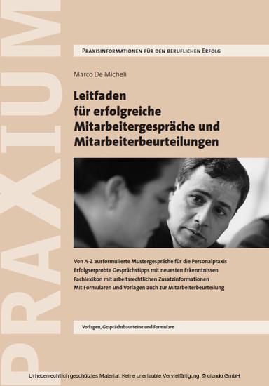 Leitfaden für erfolgreiche Mitarbeitergespräche und Mitarbeiterbeurteilungen - Blick ins Buch