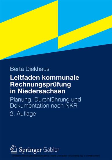 Leitfaden kommunale Rechnungsprüfung in Niedersachsen - Blick ins Buch