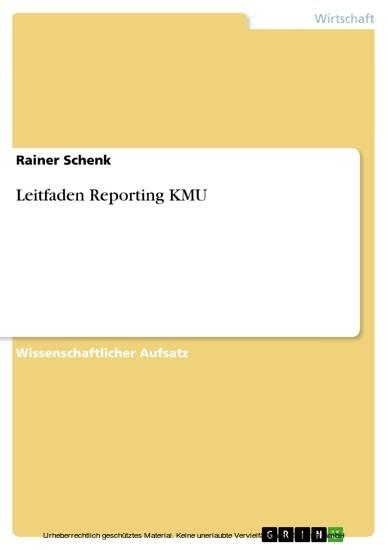 Leitfaden Reporting KMU - Blick ins Buch