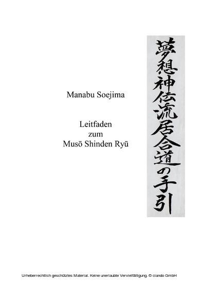Leitfaden zum Muso Shinden Ryu - Blick ins Buch