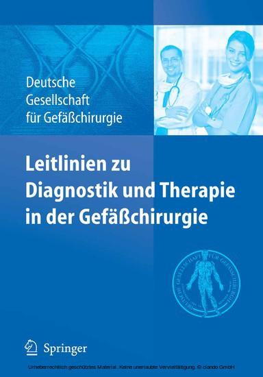 Leitlinien zu Diagnostik und Therapie in der Gefäßchirurgie - Blick ins Buch