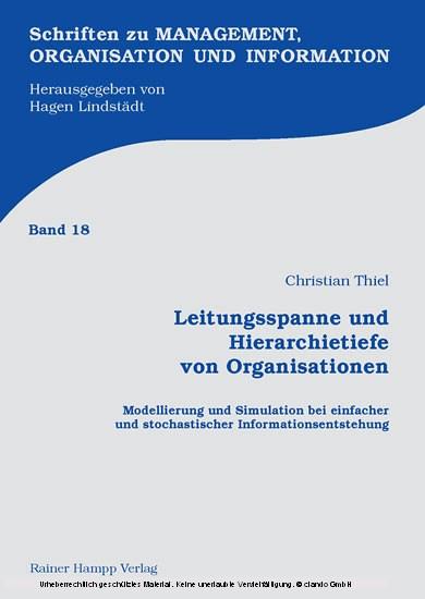Leitungsspanne und Hierarchietiefe von Organisationen - Blick ins Buch