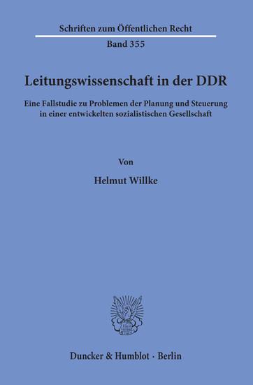 Leitungswissenschaft in der DDR. - Blick ins Buch
