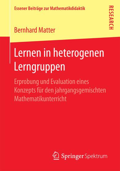 Lernen in heterogenen Lerngruppen - Blick ins Buch