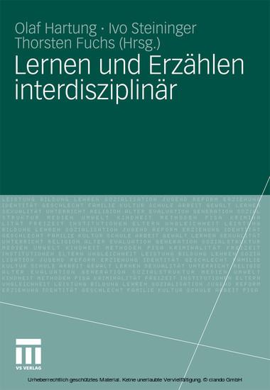 Lernen und Erzählen interdisziplinär - Blick ins Buch