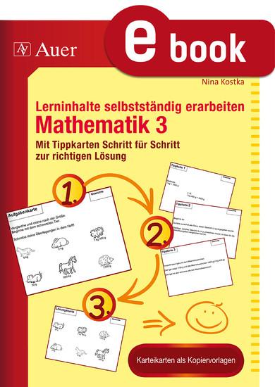 Lerninhalte selbstständig erarbeiten Mathematik 3 - Blick ins Buch