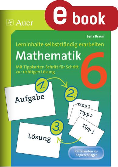 Lerninhalte selbstständig erarbeiten Mathematik 6 - Blick ins Buch