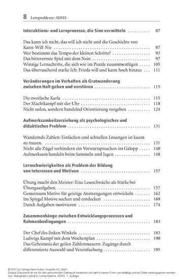 Lernprobleme: ADHS? - Fallanalysen aus der Lerntherapie - Blick ins Buch