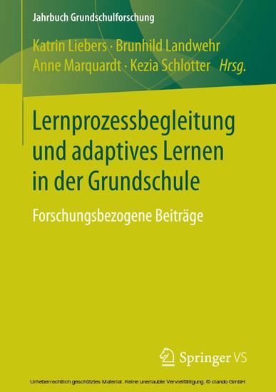 Lernprozessbegleitung und adaptives Lernen in der Grundschule - Blick ins Buch