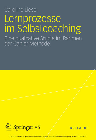 Lernprozesse im Selbstcoaching - Blick ins Buch
