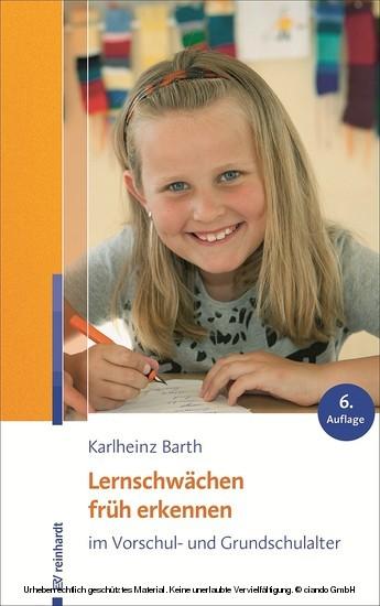 Lernschwächen früh erkennen im Vorschul- und Grundschulalter - Blick ins Buch