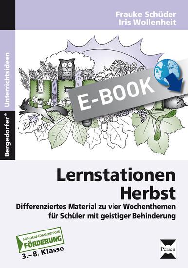 Lernstationen Herbst - Blick ins Buch