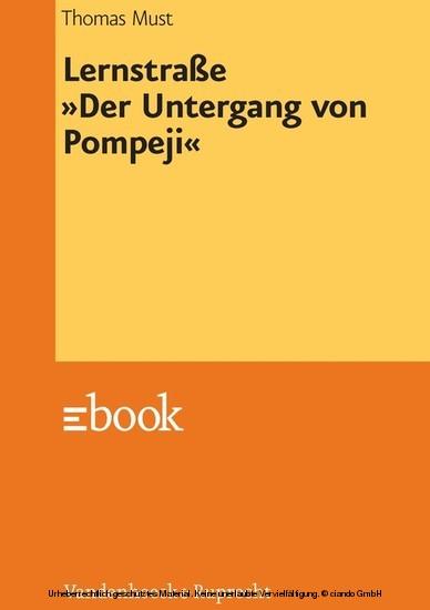 Lernstraße »Der Untergang von Pompeji« - Blick ins Buch