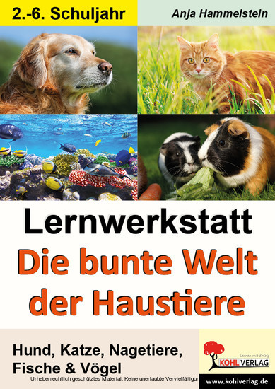 Lernwerkstatt Die bunte Welt der Haustiere - Blick ins Buch