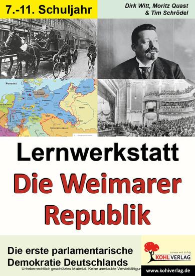 Lernwerkstatt Die Weimarer Republik - Blick ins Buch