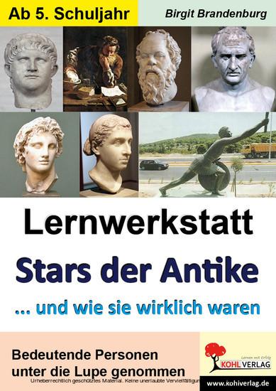 Lernwerkstatt Stars der Antike - Blick ins Buch