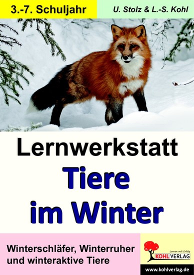 Lernwerkstatt Tiere im Winter - Blick ins Buch