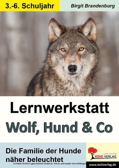 Lernwerkstatt Wolf, Hund & Co - Blick ins Buch