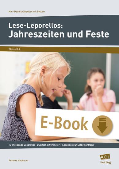 Lese-Leporellos: Jahreszeiten und Feste Kl. 3/4 - Blick ins Buch