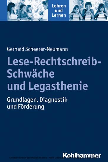 Lese-Rechtschreib-Schwäche und Legasthenie - Blick ins Buch