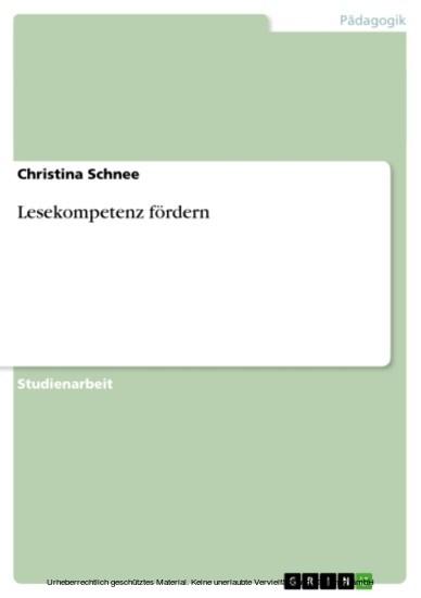 Lesekompetenz fördern - Blick ins Buch