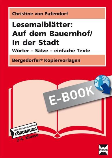 Lesemalblätter: Auf dem Bauernhof / In der Stadt - Blick ins Buch