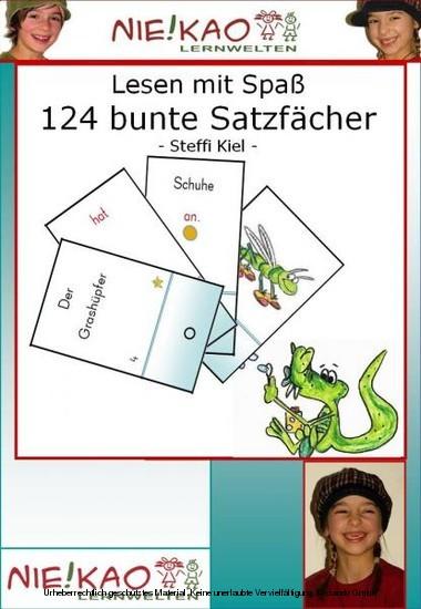 Lesen mit Spaß - 124 bunte Satzfächer - Blick ins Buch