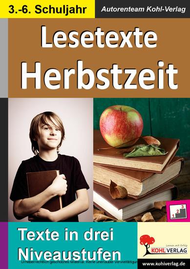 Lesetexte HERBSTZEIT - Blick ins Buch