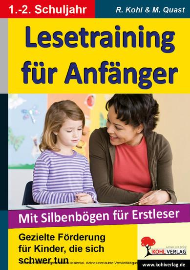 Lesetraining für Anfänger - Blick ins Buch