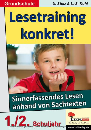Lesetraining konkret! / Klasse 1-2 - Blick ins Buch