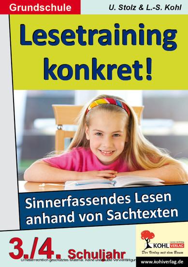 Lesetraining konkret! / Klasse 3-4 - Blick ins Buch
