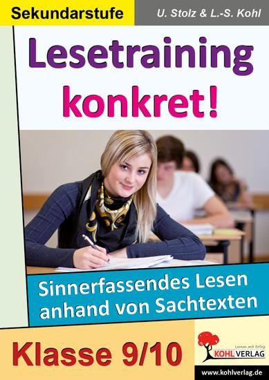 Lesetraining konkret! / Klasse 9-10 - Blick ins Buch