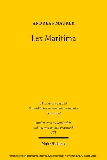 Lex Maritima - Blick ins Buch