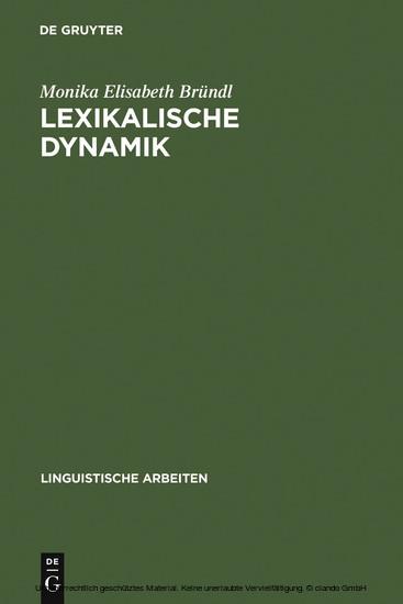 Lexikalische Dynamik - Blick ins Buch