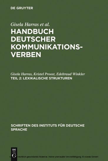 Lexikalische Strukturen - Blick ins Buch