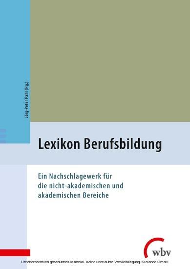 Lexikon Berufsbildung - Blick ins Buch