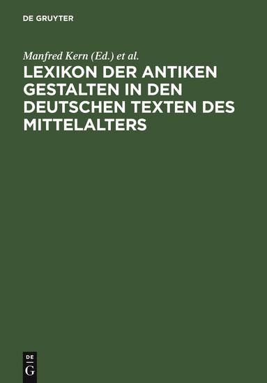 Lexikon der antiken Gestalten in den deutschen Texten des Mittelalters - Blick ins Buch