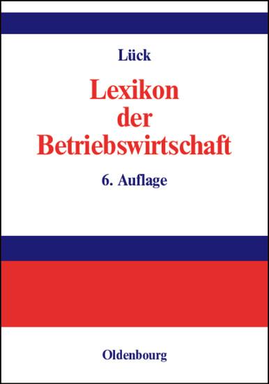 Lexikon der Betriebswirtschaft - Blick ins Buch
