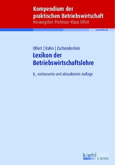 Lexikon der Betriebswirtschaftslehre - Blick ins Buch