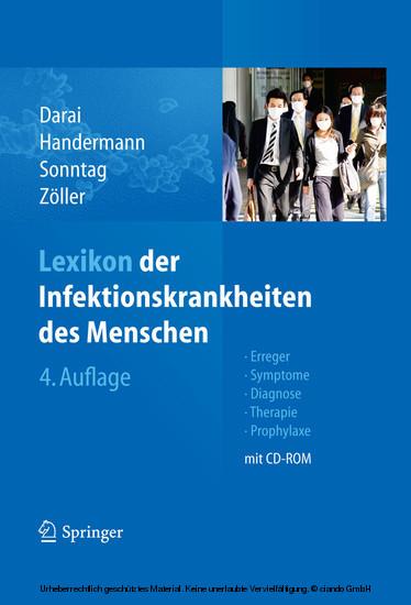 Lexikon der Infektionskrankheiten des Menschen - Blick ins Buch