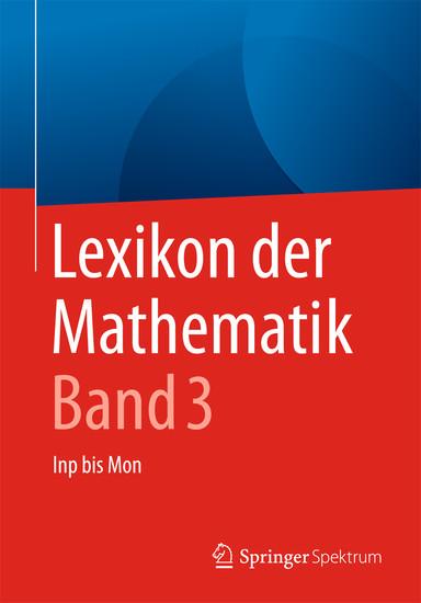 Lexikon der Mathematik: Band 3 - Blick ins Buch