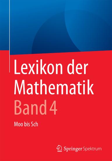 Lexikon der Mathematik: Band 4 - Blick ins Buch