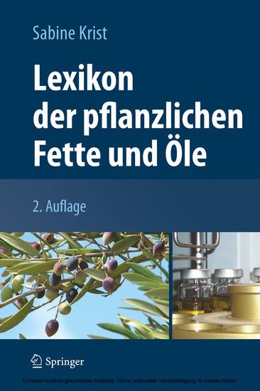 Lexikon der pflanzlichen Fette und Öle - Blick ins Buch