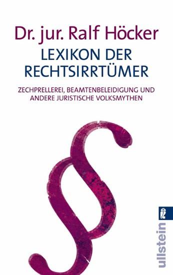 Lexikon der Rechtsirrtümer - Blick ins Buch