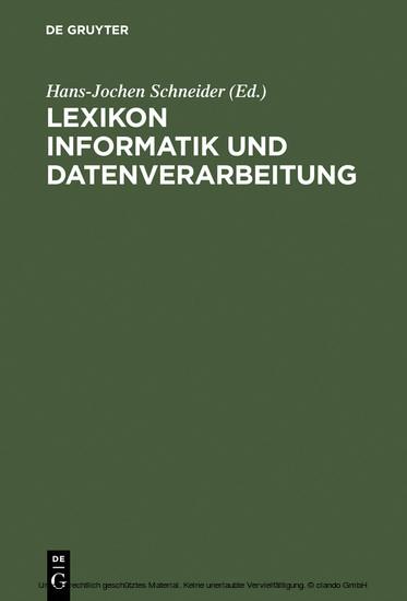 Lexikon Informatik und Datenverarbeitung - Blick ins Buch