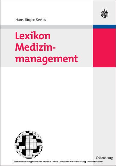 Lexikon Medizinmanagement - Blick ins Buch