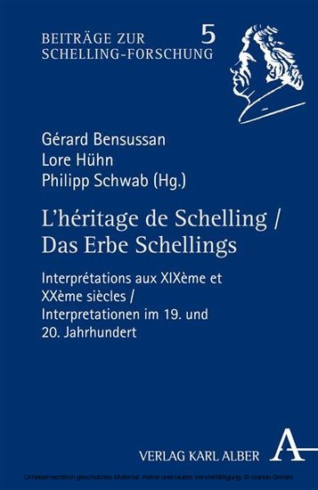 L'héritage de Schelling / Das Erbe Schellings - Blick ins Buch