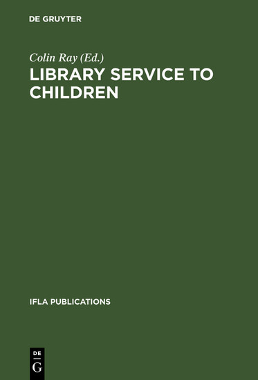 Library service to children - Blick ins Buch
